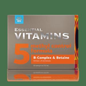 Бетаин и В-витамины 30 капсул